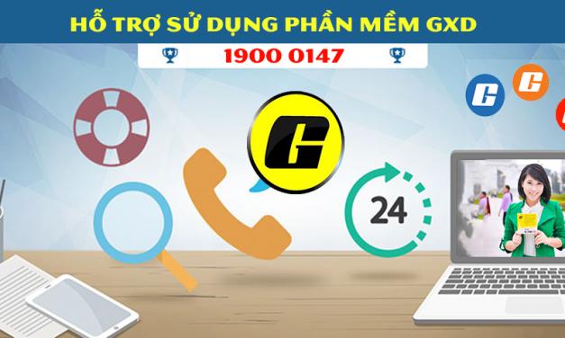 Cách liên hệ trợ giúp khi sử dụng phần mềm Dự toán GXD